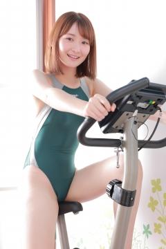 Asami Kondo Swimsuit Speedo Green027