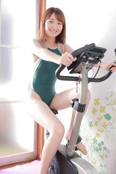 Asami Kondo Swimsuit Speedo Green026