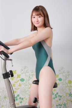 Asami Kondo Swimsuit Speedo Green034
