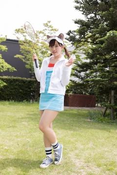 Katsuki Anju Swimsuit gravure Tennis girl001