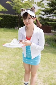 Katsuki Anju Swimsuit gravure Tennis girl003
