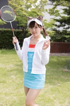 Katsuki Anju Swimsuit gravure Tennis girl002