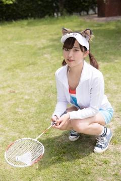 Katsuki Anju Swimsuit gravure Tennis girl004