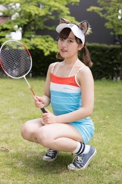 Katsuki Anju Swimsuit gravure Tennis girl009