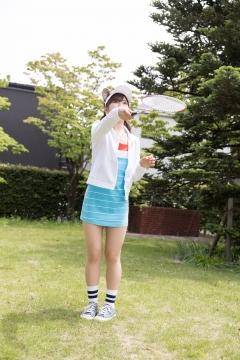Katsuki Anju Swimsuit gravure Tennis girl007