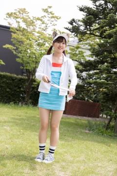 Katsuki Anju Swimsuit gravure Tennis girl006