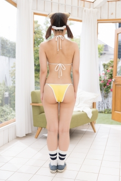 Katsuki Anju Swimsuit gravure Tennis girl055