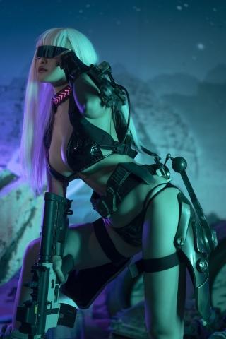 Black Swimsuit Black Bikini Cyberpunk 2021 Cosplay001