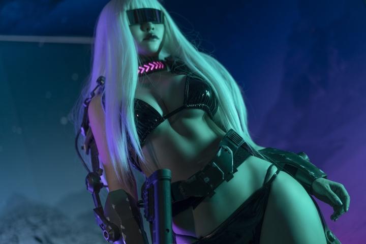 Black Swimsuit Black Bikini Cyberpunk 2021 Cosplay003