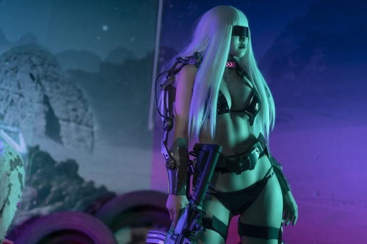 Black Swimsuit Black Bikini Cyberpunk 2021 Cosplay002