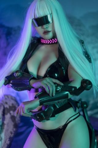 Black Swimsuit Black Bikini Cyberpunk 2021 Cosplay006