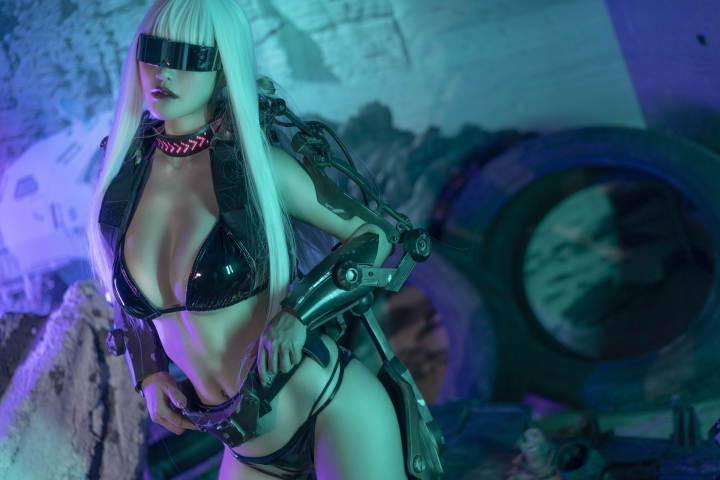 Black Swimsuit Black Bikini Cyberpunk 2021 Cosplay007