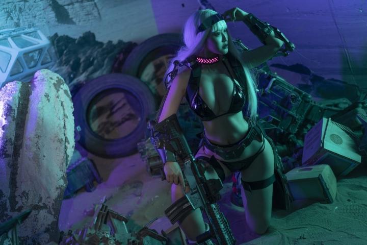 Black Swimsuit Black Bikini Cyberpunk 2021 Cosplay011