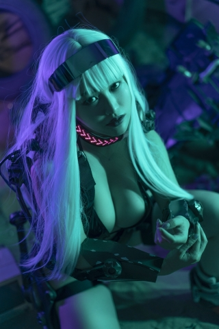 Black Swimsuit Black Bikini Cyberpunk 2021 Cosplay017