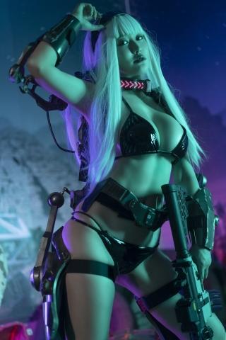 Black Swimsuit Black Bikini Cyberpunk 2021 Cosplay016