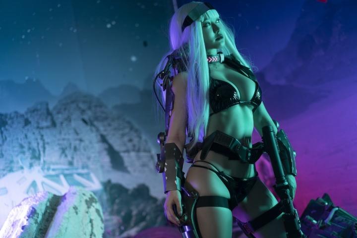 Black Swimsuit Black Bikini Cyberpunk 2021 Cosplay015
