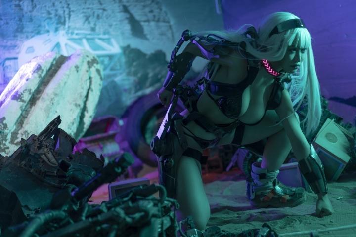 Black Swimsuit Black Bikini Cyberpunk 2021 Cosplay018