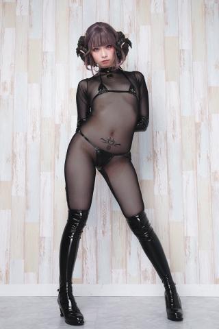 tights micro black swimsuit bikini059