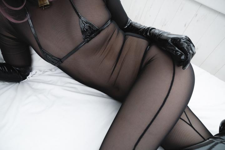 tights micro black swimsuit bikini067