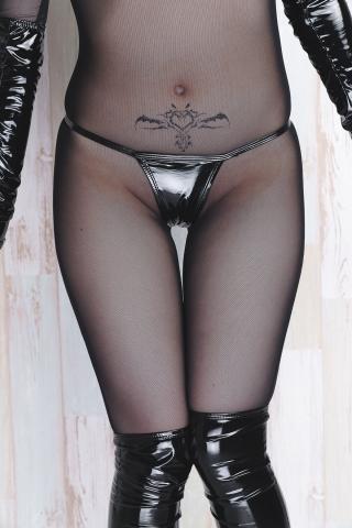 tights micro black swimsuit bikini070