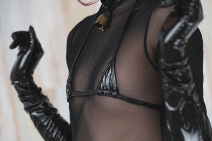 tights micro black swimsuit bikini090