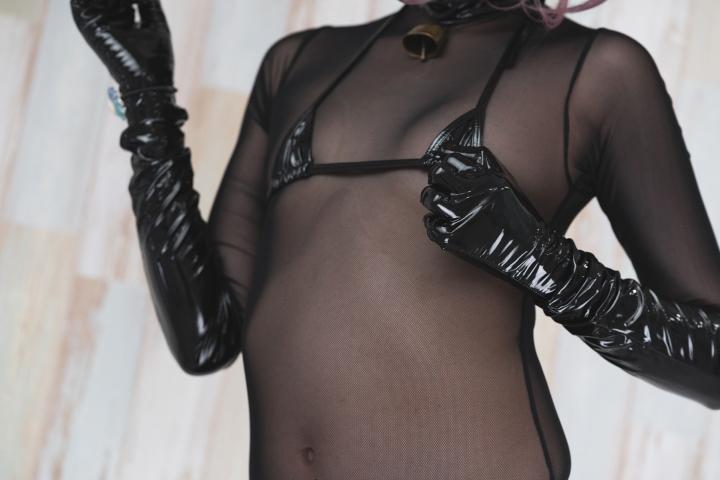 tights micro black swimsuit bikini094