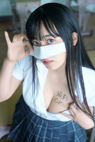 Ummi Shinonome, uniform undressing swimsuit underwear gravure I want to see you embarrassed001