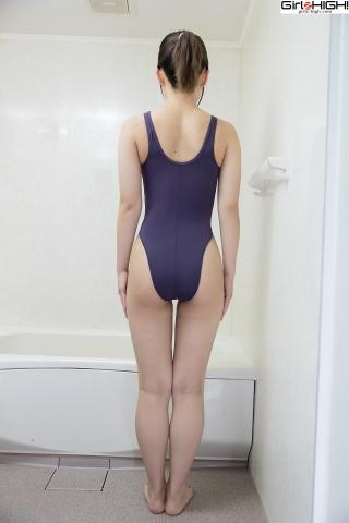 Anju Kouzuki Swimming Race Swimsuit Images FILA Shower005