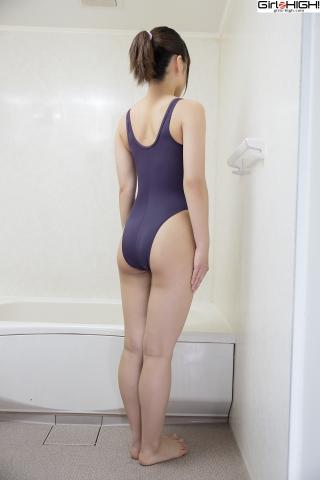 Anju Kouzuki Swimming Race Swimsuit Images FILA Shower006