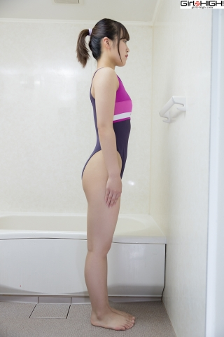 Anju Kouzuki Swimming Race Swimsuit Images FILA Shower007