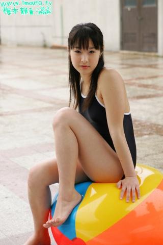 Shizuka Umemoto School Swimsuit Speedo Speedo Pool012