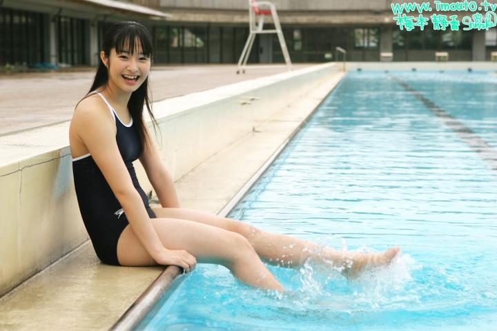 Shizuka Umemoto School Swimsuit Speedo Speedo Pool019