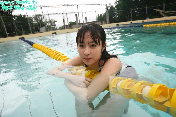 Shizuka Umemoto School Swimsuit Speedo Speedo Pool044