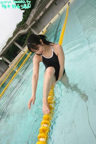 Shizuka Umemoto School Swimsuit Speedo Speedo Pool048