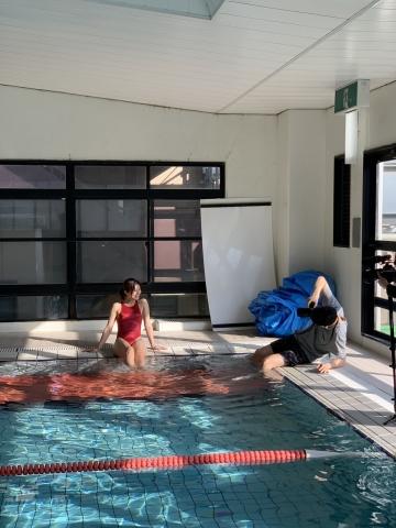 Yuki Fujiki Swimming After the Rain014