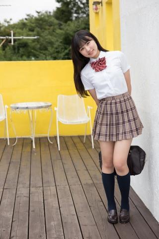 Kurumi Miyamaru School Uniform Girl Punching Pants White Swimsuit Bikini001