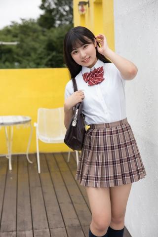 Kurumi Miyamaru School Uniform Girl Punching Pants White Swimsuit Bikini002