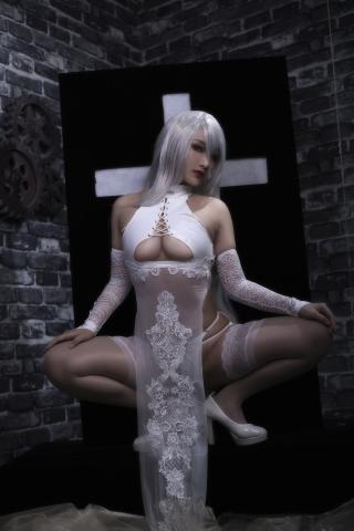 Nia Automata No2 White Miyan Chinese Dress002