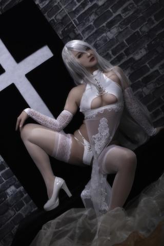 Nia Automata No2 White Miyan Chinese Dress004