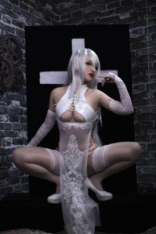 Nia Automata No2 White Miyan Chinese Dress003