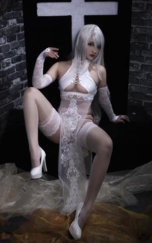 Nia Automata No2 White Miyan Chinese Dress011