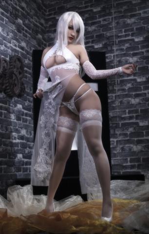 Nia Automata No2 White Miyan Chinese Dress014