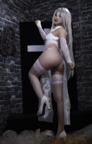 Nia Automata No2 White Miyan Chinese Dress017