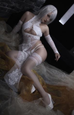 Nia Automata No2 White Miyan Chinese Dress016