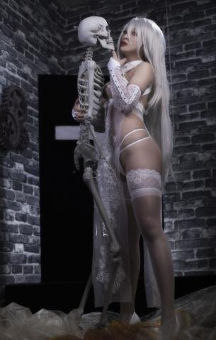 Nia Automata No2 White Miyan Chinese Dress019