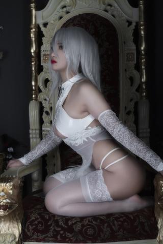 Nia Automata No2 White Miyan Chinese Dress024