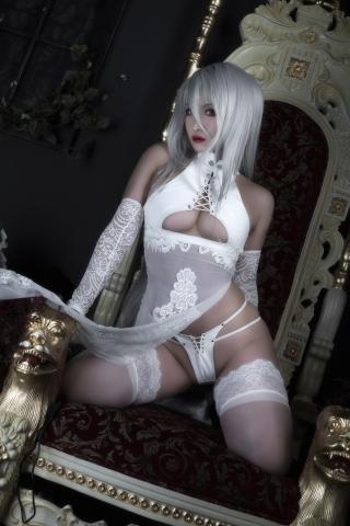 Nia Automata No2 White Miyan Chinese Dress028
