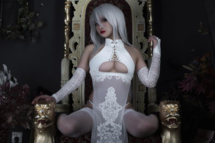 Nia Automata No2 White Miyan Chinese Dress029