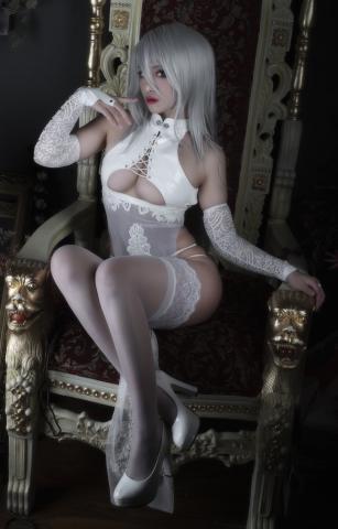 Nia Automata No2 White Miyan Chinese Dress031