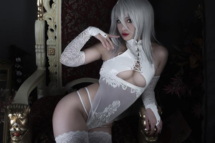 Nia Automata No2 White Miyan Chinese Dress032